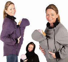 Tragejacke Tragepullover Größe 36-46 Fleecepullover für Tragetuch Bauchtrage