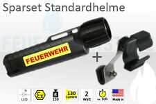 UK 4AA CPO TS Feuerwehr LED Helmlampe Set (UK4AA Schuberth F100 F110 F120 pro)