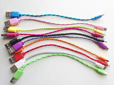 """8"""" Braided MICRO USB data sync Charger Cable FOR samsung galaxy s3 s4 Sony HTC"""
