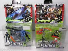 GI JOE Sigma 6 Silent Entry & Nightblade Figure Lot Set - Hasbro 2006