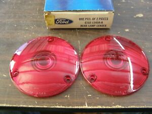 NOS OEM Ford 1961 1967 Econoline Van Tail Light Lamp Lenses 1963 1964 1965 1966