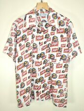 SCHLITZ BREWING Milwaukee Vintage 1970s RARE K-MART Beer Hawaiian Shirt size L