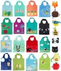 Reusable Foldable Shopping Bag Eco Animal Tote Handbag Fold Away Ladies Clip
