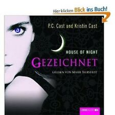 P.C. CAST - HOUSE OF NIGHT-GEZEICHNET 4 CD HÖRBUCH NEU