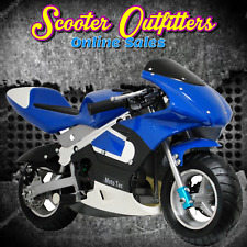 MotoTec Gas Pocket Bike fun with Scooters Mopeds Atvs Dirt Bikes New (See Video)