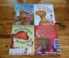 How do Dinosaurs Book Lot 4 Hardback Autographed HC 1st Editions Food Christmas