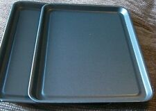 2 Heavy Duty Non Stick Baking Sheet Metal Large Biscuit oven Tray 42 x 30 x 2cm