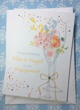 Personalised Engagement Card Champagne Flutes