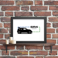 Metro 6R4 80s Car A3 Print Retro Group B 80s Sports Racing Motor Art Picture