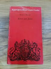 Romeo and Juliet Programme Royal Opera House Covent Garden 27 May 1968