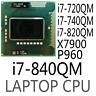 Intel Xeon I7-720QM I7-740QM I7-820QM I7-840QM X7900 P960 CPU Processor