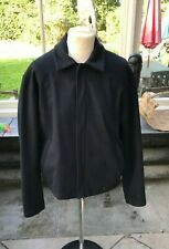 "Burberry Jacket Black Mens Authentic Used 50"" chest size XL"