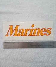 Vintage Marines Corps Sticker Decal