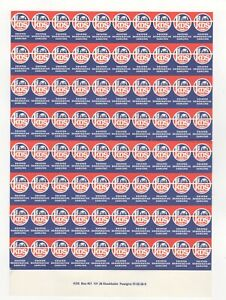 Sweden Christian Democratic Party Sheet of 80 Stamps