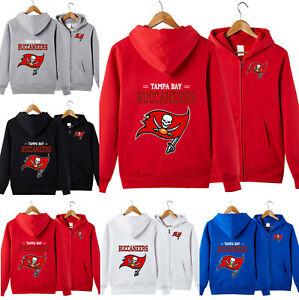 Tampa Bay Buccaneers Football Hoodie Zipper Hooded Sweatshirt Casual Jacket Gift