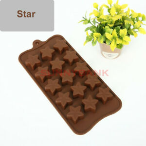 Star Silicone Cake Decor Ice Tray Candy Cookie Chocolate Baking Mold