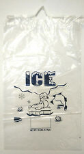 Clear 10 LB / LBS Plastic Ice Bag Bags with Drawstring Free Shipping 100 PCs