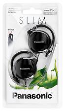 Panasonic Rphs46ek Black Slim Headphones Clip Type Earphones Rp-hs46