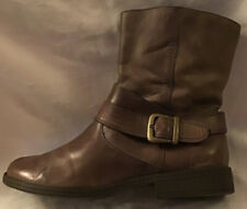 Clarks Ladies Leather Brown Ankle Boots In Good Condition Size Eu 39.5 UK 6D