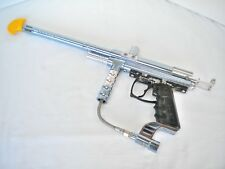 Spyder Xtra Paintball Gun - Chrome & Light Blue - Untested