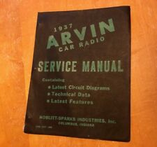 1937 Arvin Car Radio Vintage Collectable Manual Cover with page 1 Ford Chevrolet