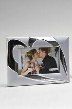 Moderner Fotorahmen Bilderrahmen Herz aus Aluminium 10x15 cm