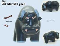 Merrill Lynch Logo Foam Rubber Bull  Squeeze Stress Reliever
