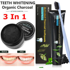 100% Natural Bamboo Activated Charcoal Teeth Tooth Whitening Powder Toothpaste