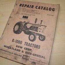 Minneapolis Moline Mm G 1000 Tractor Spare Parts Book Catalog Manual Book Farm