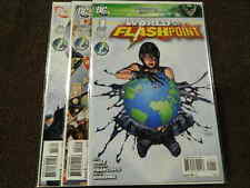 2011 DC Comics WORLD OF FLASHPOINT #1-3 Complete Limited Series Set - VF/NM
