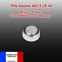Pile bouton LR44 AG13 AG 13 montre télécommande réveil jouets mp3 1,5V