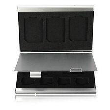 Metal Aluminum Micro SD TF MMC Memory Card Storage Box Protecter Case Holder Set