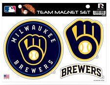 Milwaukee Brewers Multi Die Cut Magnet Sheet Set Heavy Duty Auto Home Baseball