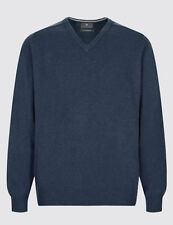 Marks and Spencer Men's No Pattern Lambswool Jumpers & Cardigans