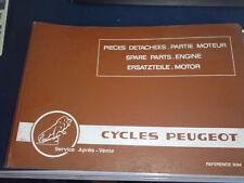 CATALOGUE 80 M PART LIST MOTEUR ENGINE MOTOR PEUGEOT 102 103 GL10 SX5 SX8