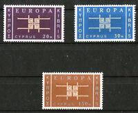 Zypern CEPT Europa 225 - 227 ** sauber postfrisch 1963 Michel 40,00 Euro MNH