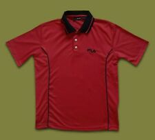 FILA..SMALL..MEN'S 100% POLYESTER POLO SHIRT..TEE T SHIRT TOP ORANGE RED COLOUR