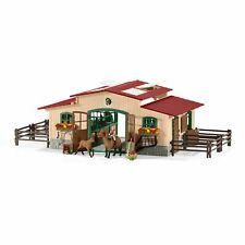 Stable Barn Equestrian with Horses & Accessories - Schleich - 42195 NEW