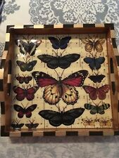 "Annie Modica  ""FLUTTER"". Butterfly Tray."