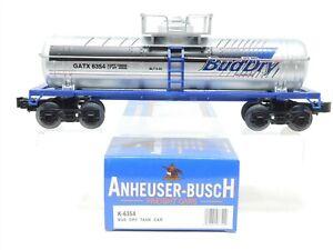 O Gauge 3-Rail K-Line Anheuser-Busch K-6354 GATX Bud Dry Tank Car #6354