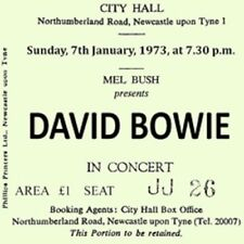 David Bowie Concert Coasters January 1973 Ticket High quality Coaster