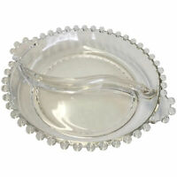 Small Candlewick Divided Bowl with Tab Handles