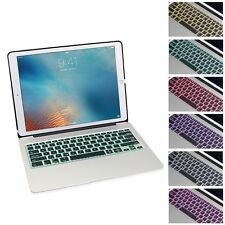 Aluminum Bluetooth Keyboard Case Cover Backlit Keypad iPad Pro 12.9 inch Silver