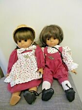 Vintage 18� Gotz Modell German Doll w/ Brown Hair Set of 2 American Girl Twins