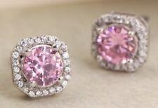 925 Sterling Silver Cubic Zirconia Crystal Rhinestones Stud/hoop Girls Earrings 03