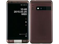 KYOCERA KYV33 INFOBAR A03 ANDROID 4K METAL PHONE UNLOCKED JAPAN BROWN NEW