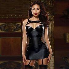 Dress Women's Black Faux Leather Role Play Dominatrix Plus Size XL XXL XXXL New/