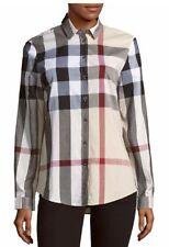 NWT Burberry Brit Casual Button-Down Cotton Shirt XS $350