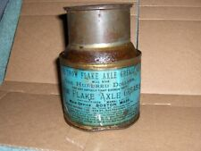 Rare 1890's Antique The Snow Flake Axle Grease Tin Can  Bucket Gas & Oil 3/4full