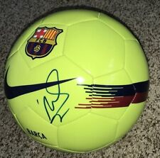 David Villa Signed Barcelona Soccer Ball Spain With Proof